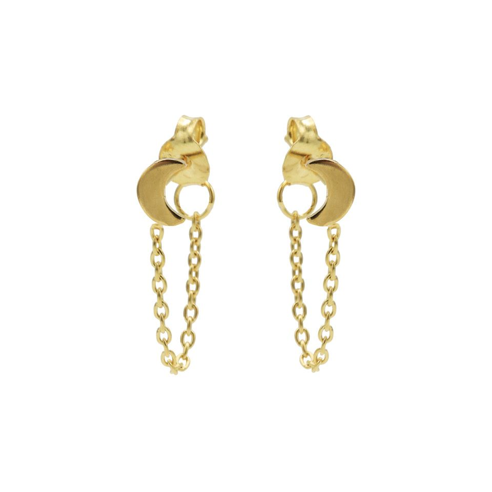 Chain Moon Goldplated