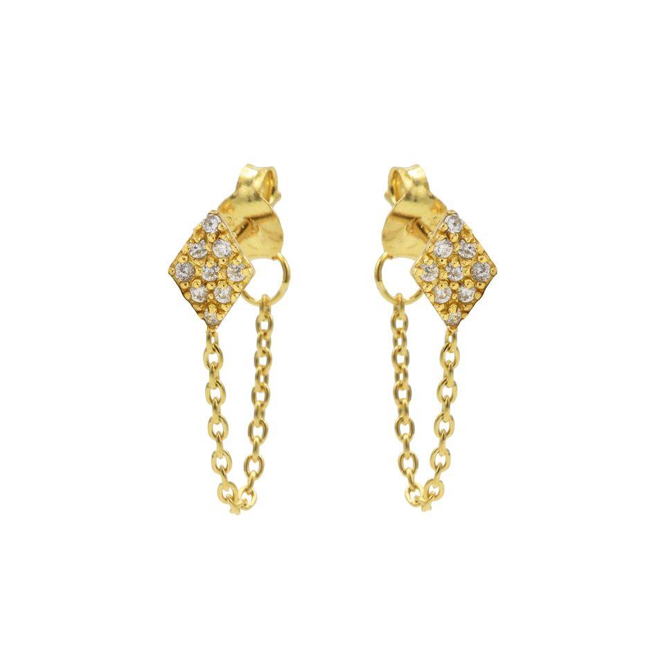 Chain Zirconia Diamond Goldplated