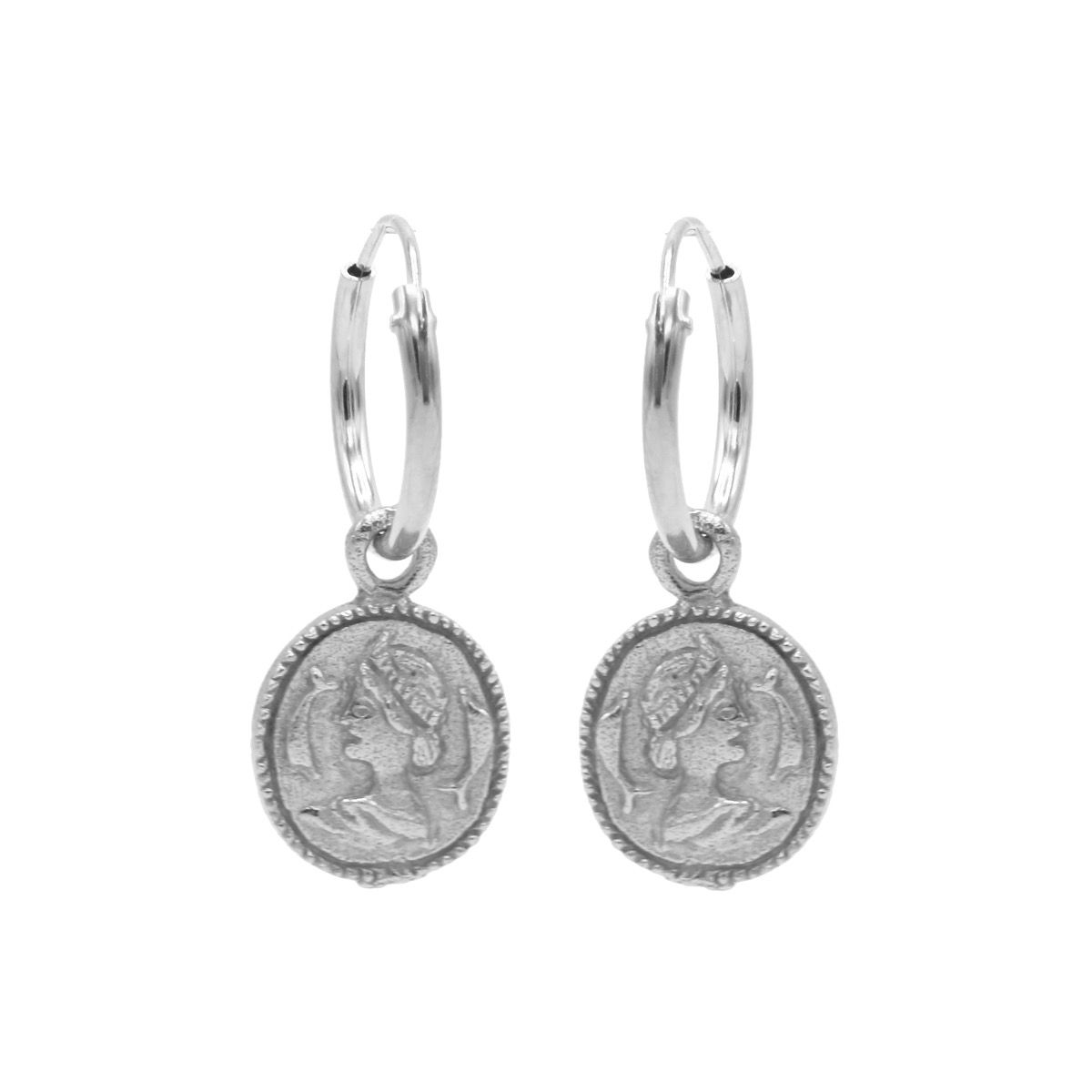 Hoops Symbols Coin Silver (