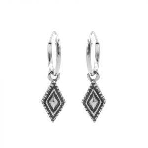 Hoops Symbols Dots Line Diamond Silver
