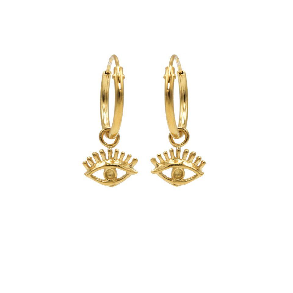 Hoops Symbols Eye Goldplated (3 pack)