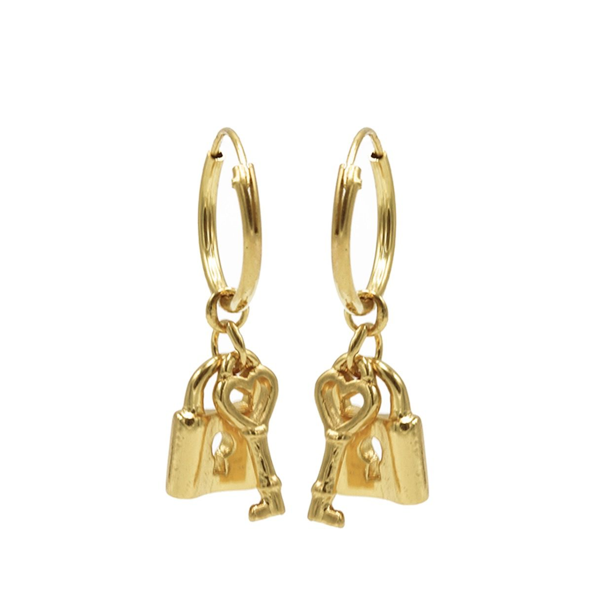 Hoops Symbols Key Lock Goldplated