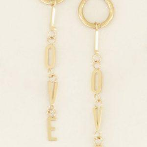 oorbellen love goud