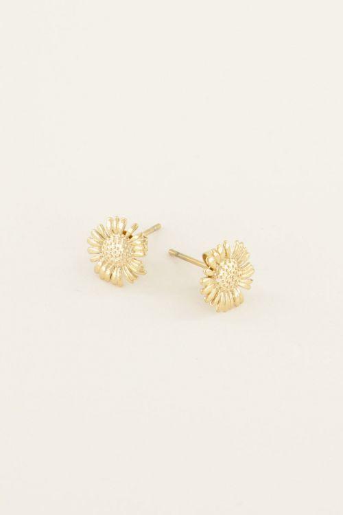 oorbellen studs daisy goud