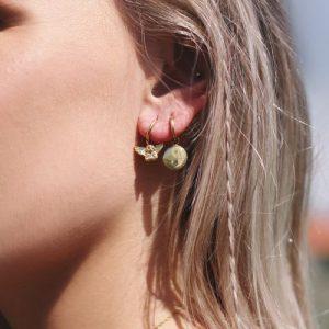 oorbellen yin yang goud