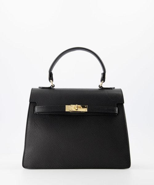 helene-classic-grain-handtassen-zwart-d28-goudkleu